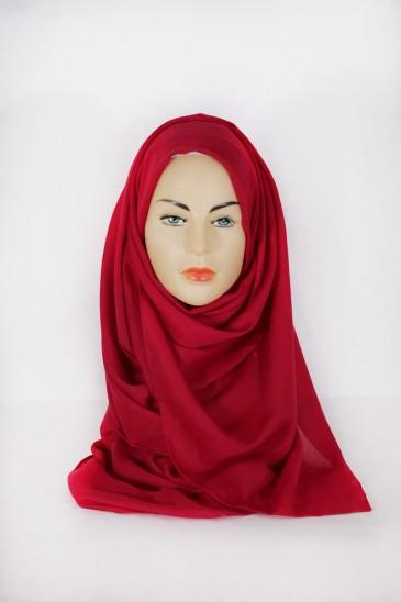 Hijab Pashmina XXL Noir Magenta pas cher & discount