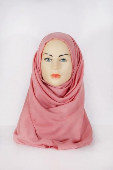 Hijab Pashmina XXL Saumon Foncé pas cher & discount