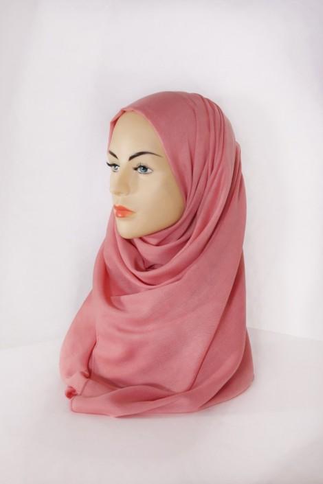 Hijab Pashmina XXL Saumon Foncé