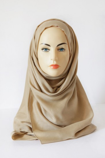 Hijab Pashmina XXL Beige doré pas cher & discount