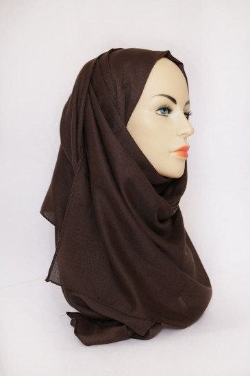 Hijab Pashmina XXL Marron pas cher & discount