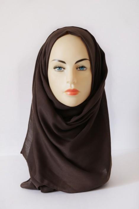Hijab Pashmina XXL Marron