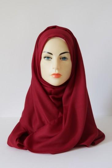 Hijab Pashmina XXL Pourpre pas cher & discount