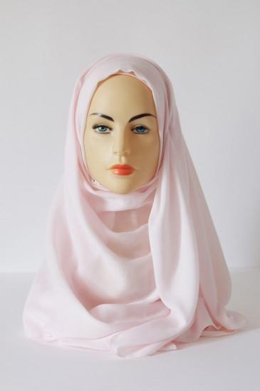 Hijab Pashmina XXL Rose poudré pas cher & discount