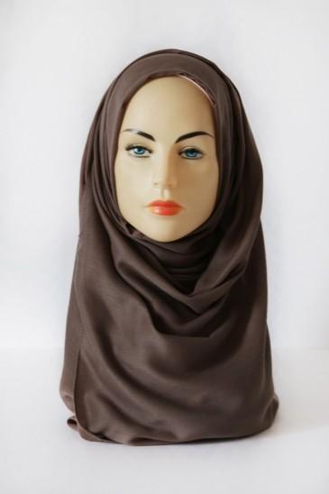 Hijab Pashmina XXL Taupe pas cher & discount