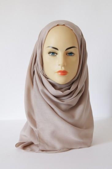 Hijab Pashmina XXL Taupe Clair pas cher & discount