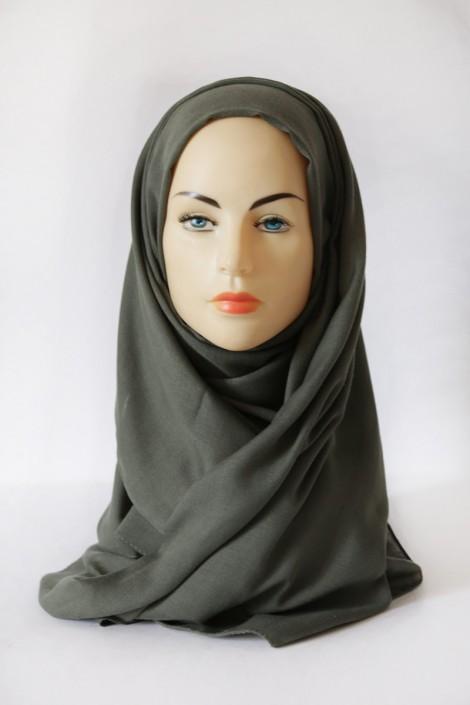Hijab Pashmina XXL Vert Militaire
