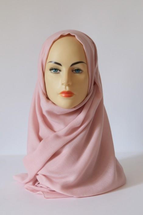 Hijab Pashmina XXL Vieux rose