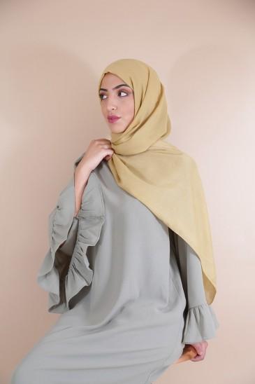 Hijab Pashmina XXL Moutarde pas cher & discount