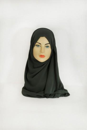 Hijab basic carré vert pas cher & discount