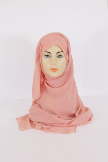 Hijab Basic carré Abricot pas cher & discount