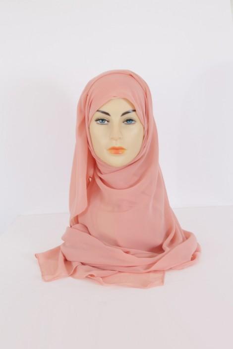 Hijab Basic carré Abricot