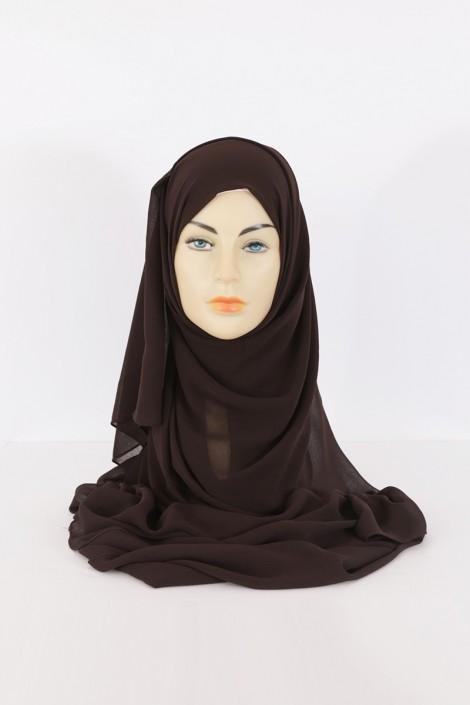 Hijeb Basic Carré Marron