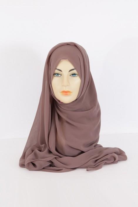 Hijeb Basic Carré Taupe FOncé