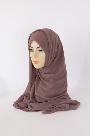 Hijeb Basic Carré Taupe FOncé pas cher & discount