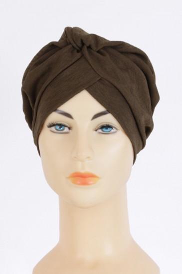 Turban Crepe Rania Kaki pas cher & discount