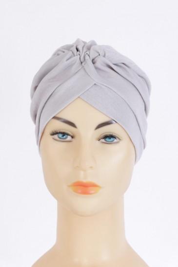 Turban Crepe Rania - Gris pas cher & discount
