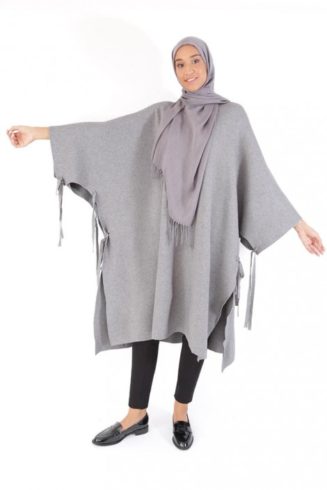 Poncho Maribel gris