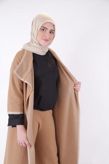 Gilet Noreen Camel pas cher & discount