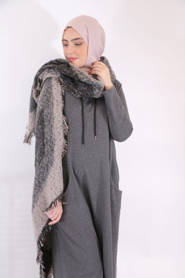 Robe Chany Gris anthracite pas cher & discount