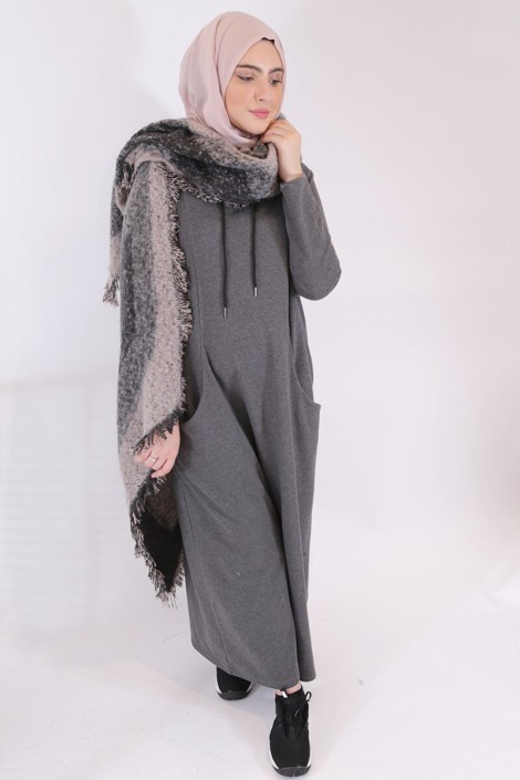 Robe Chany Gris antracite