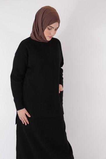 Pull Hafeeza Noir pas cher & discount