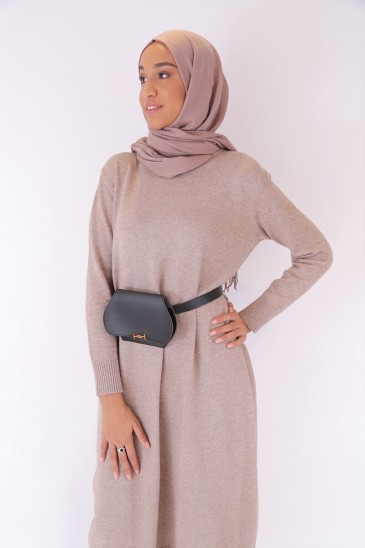 Pull Aby Taupe pas cher & discount