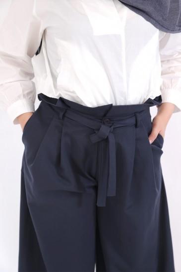 Pantalon Amael Bleu Nuit pas cher & discount