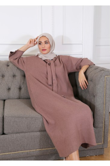 Robe Pull Anoushka Taupe pas cher & discount