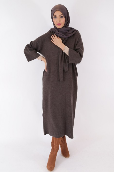 Robe Pull Anoushka Gris anthracite