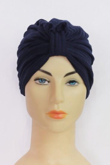 Turban Ndyae - Bleu marine pas cher & discount