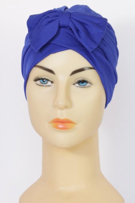 Turban Noémie- Bleu roi