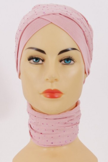 Turban MINELLI Rose pas cher & discount