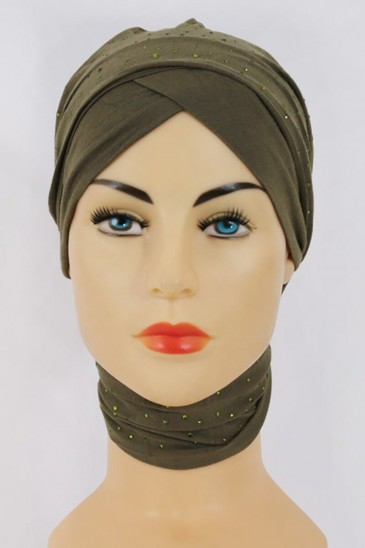 Turban MINELLI Vert olive pas cher & discount