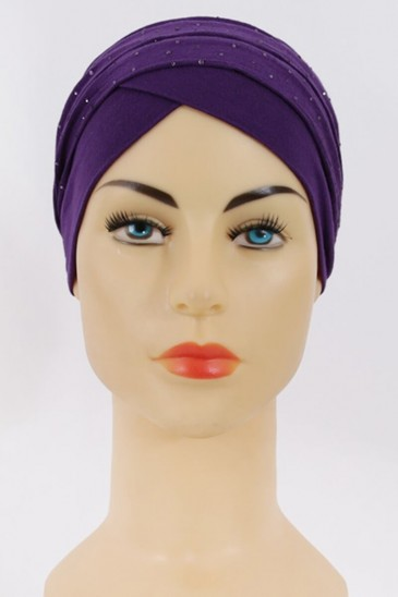Turban Minelli - Violet pas cher & discount