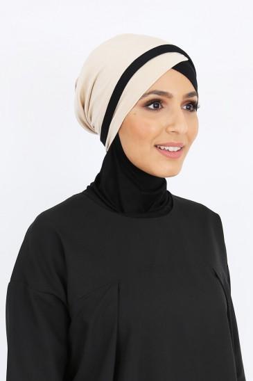 Turban Yoana Beige pas cher & discount