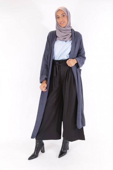 Gilet Nalya bleu grisé pas cher & discount