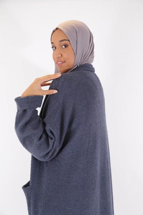 Gilet Nalya bleu grisé