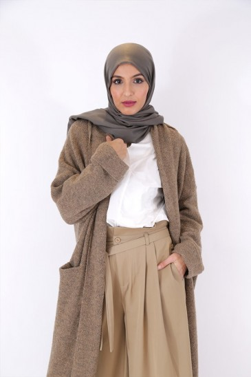 Gilet Femme Nalya Taupe pas cher & discount