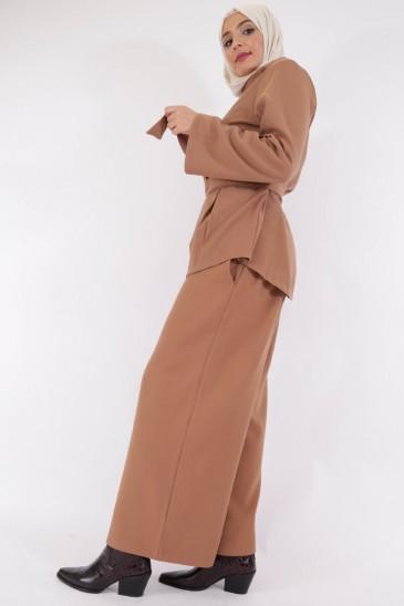 Pantalon Femme musulmane Eva Camel pas cher & discount