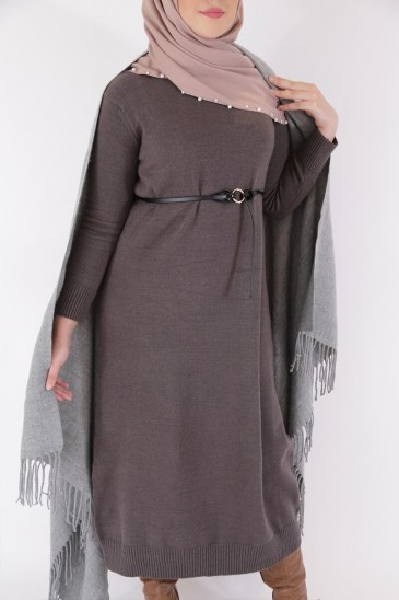 Robe Pull Femme ASMA GRIS pas cher & discount