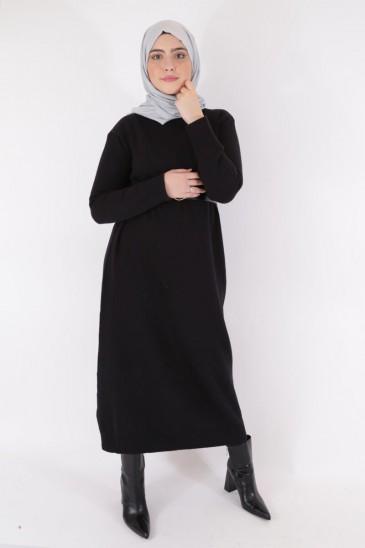 Robe Pull ASMA NOIR pas cher & discount