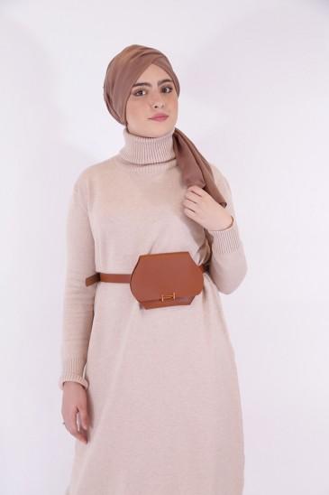 Ceinture pochette couleur camel pas cher & discount