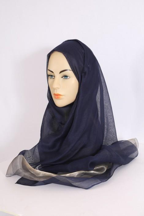 Hijeb Organza Bleu