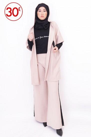 Pantalon Essiya Beige pas cher & discount
