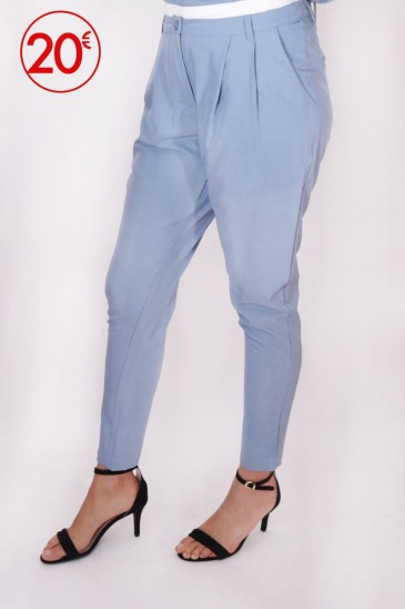 Pantalon Loane Bleu pastel pas cher & discount