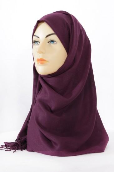 Hijeb pashmina royal - aubergine pas cher & discount