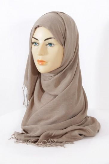Hijab Hijab Pashmina royal - Grège pas cher & discount