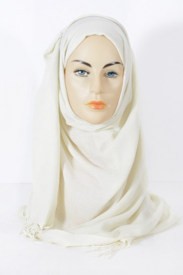 Hijab Pashmina royal - Tons Beige - Ivoire pas cher & discount