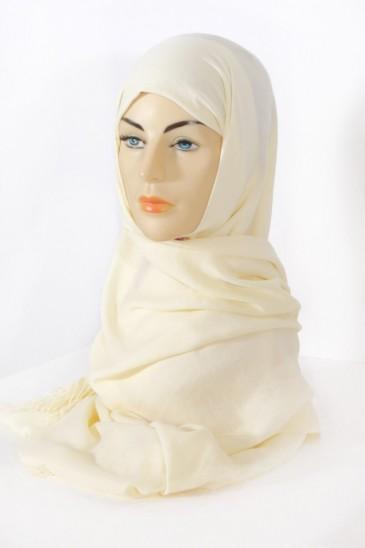 Hijab Pashmina royal - Tons Beige - mimosa pas cher & discount